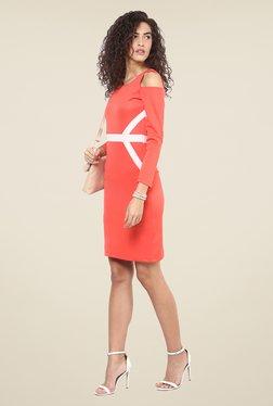 Yepme Coral Cut Out Bodycon Dress