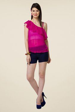 Yepme Pink Leeza One Shoulder Top