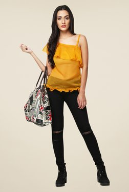 Yepme Yellow Leeza One Shoulder Top