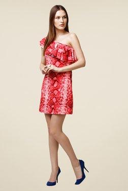 Yepme Scarlett Red One Shoulder Dress