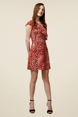 Yepme Scarlett Orange One Shoulder Dress