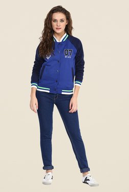 Yepme Blue Cindy Full-sleeved Jacket