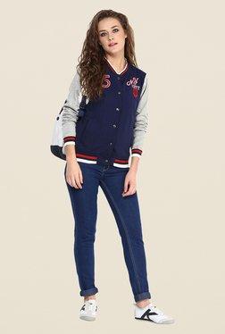 Yepme Navy Elena Full-sleeved Jacket