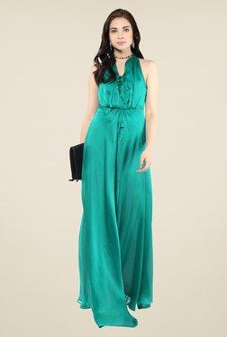 Yepme Green Tie-up Maxi Dress