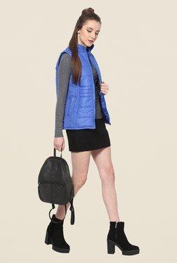 Yepme Blue Sophie Sleeveless Jacket