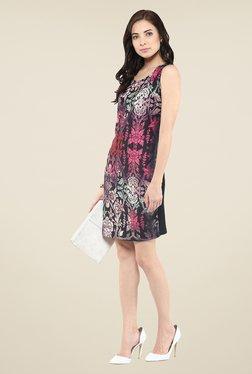 Yepme Red & Black Digital Print Bodycon Dress