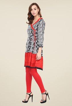 Yepme Black & Red Printed Kurti