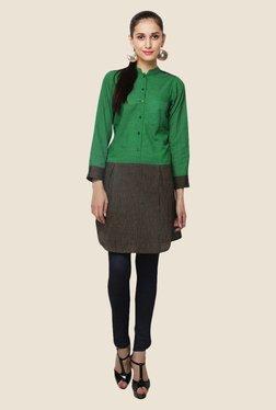Yepme Green Cleo Shirt Style Kurti