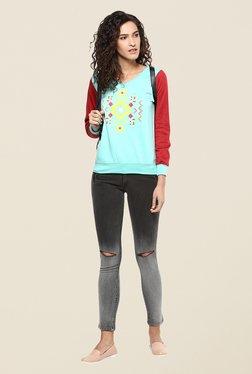 Yepme Carol Green & Red Sweatshirt