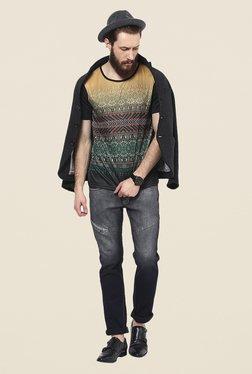 Yepme Multicolor Folk Graphic Print T Shirt