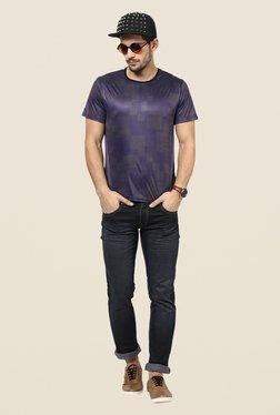 Yepme Blue Chaos Geometric Print T Shirt