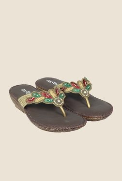 Cocoon Antique Gold Thong Sandals