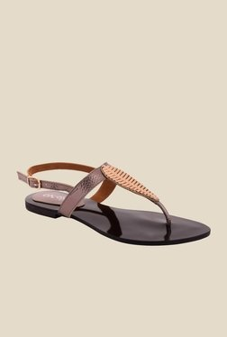Cocoon Gun Metal Back Strap Sandals