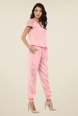 Yepme Nigella Pink Lace Jumpsuit