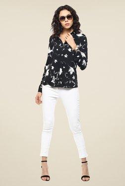 Femella Black & White Printed Shirt