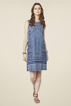 Global Desi Blue Printed Tunic