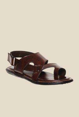 Bruno Manetti Brown Back Strap Sandals