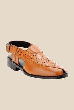 Bruno Manetti Teak Back Strap Sandals