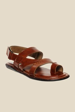 Bruno Manetti Tan Back Strap Sandals