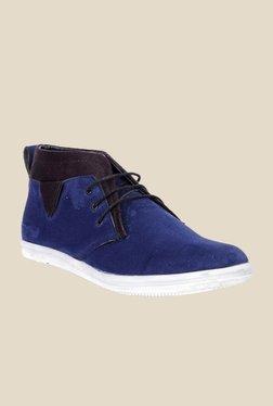 Bruno Manetti Blue & Black Chukka Shoes