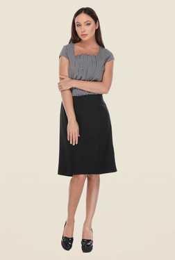 Kaaryah Black & White Printed Dress