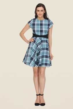 Kaaryah Blue Checked Dress