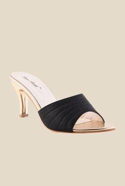 Bruno Manetti Black Stiletto Heeled Sandals