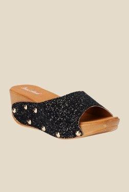 Bruno Manetti Black Wedge Heeled Sandals - Mp000000000303127