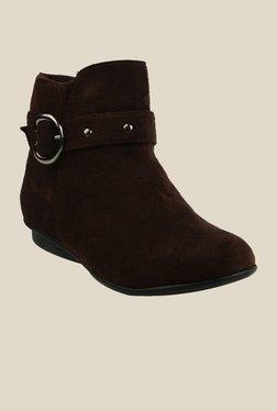 Bruno Manetti Brown Flat Booties - Mp000000000303436