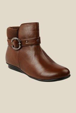 Bruno Manetti Brown Flat Booties - Mp000000000303457