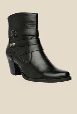 Bruno Manetti Black Block Heeled Booties - Mp000000000303590