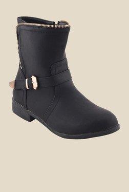 Bruno Manetti Black Flat Booties