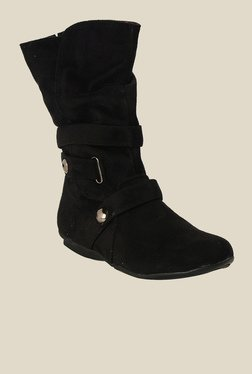 Bruno Manetti Black Flat Booties