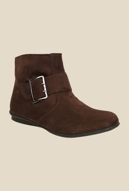 Bruno Manetti Brown Flat Booties - Mp000000000303631