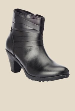 Bruno Manetti Black Block Heeled Booties - Mp000000000303403