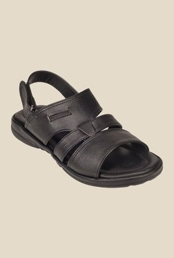 Khadim's Black Back Strap Sandals