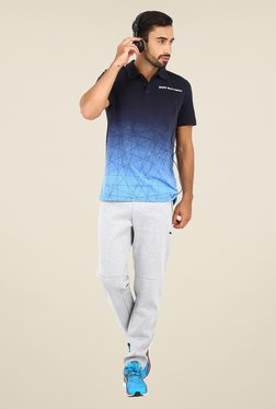 Puma Navy Logo Print Polo T Shirt - Mp000000000306681