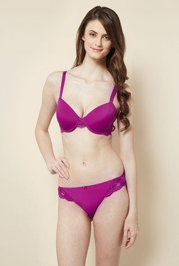 Little Lacy Purple Lingerie Set