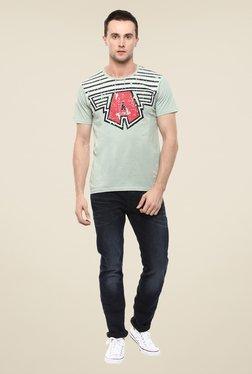 Yepme Marvel & Disney Green Graphic Printed Cotton T Shirt