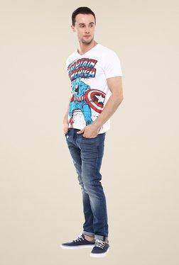 Yepme Marvel & Disney White Graphic Printed T Shirt
