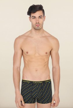 Calvin Klein Black Logo Print Trunks