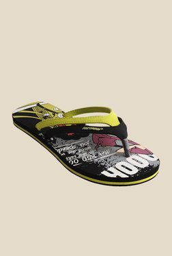 Solethreads In Time Black & Yellow Flip Flops