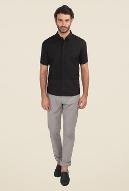 Calvin Klein Black Solid Half Sleeve Shirt