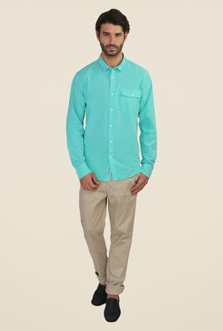 Calvin Klein Turquoise Solid Shirt