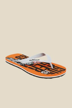 Solethreads Gun Grey & Orange Flip Flops