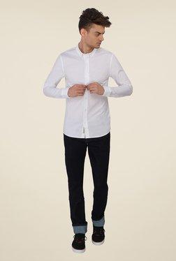 Calvin Klein White Solid Shirt