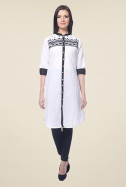 Forever Fashion White Linen Kurta