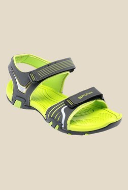 Spunk Chester Grey & Lime Green Floater Sandals