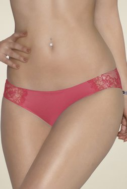 Amante Poppy Pink Lace Bikini Panty
