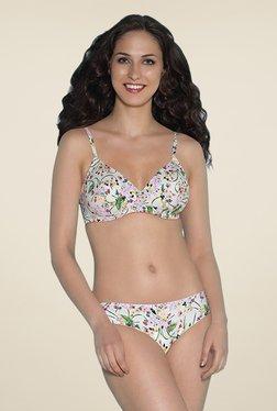 Amante White Floral Print Bikini Panty